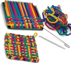 Weaving: PRO sized Potholder Looms and Loopers